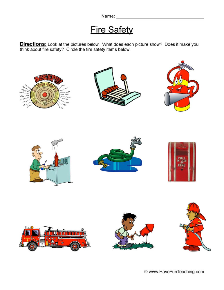 Fire Safety Worksheets Preschool Fire Safety Worksheet
