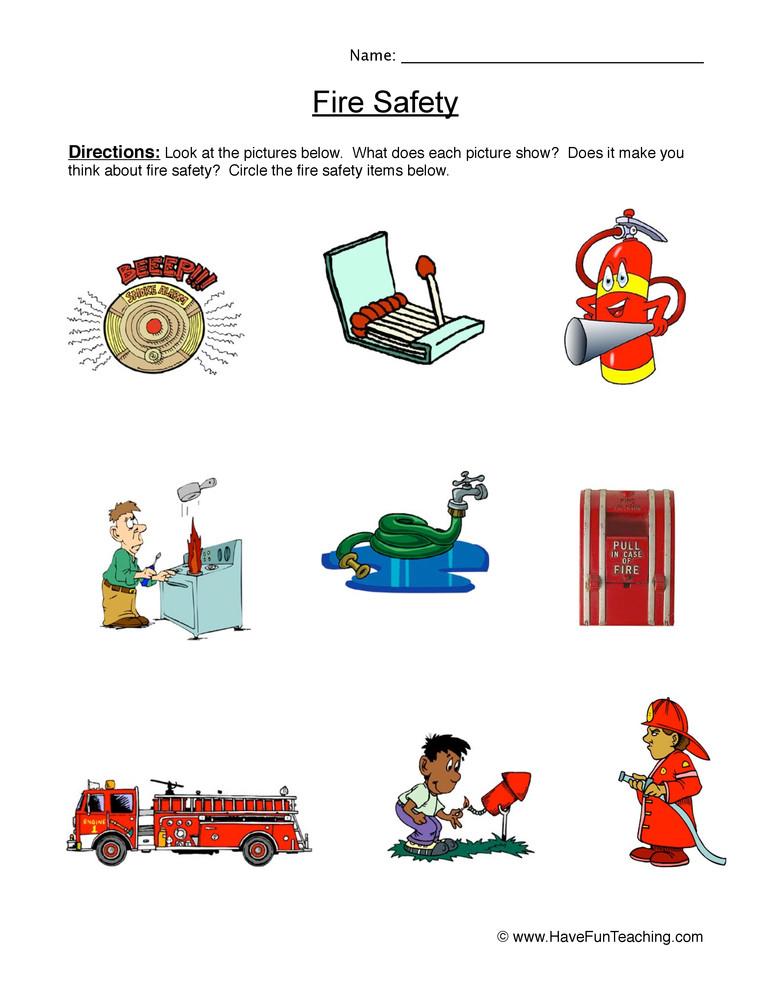 Fire Safety Worksheets Preschool Fire Safety Worksheet