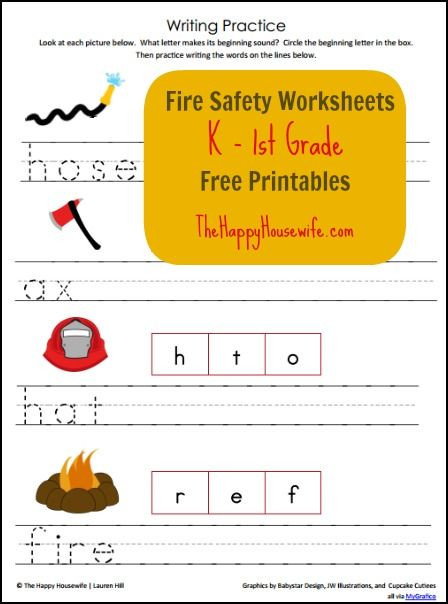 Fire Safety Worksheets Preschool Fire Safety Worksheets Free Printables