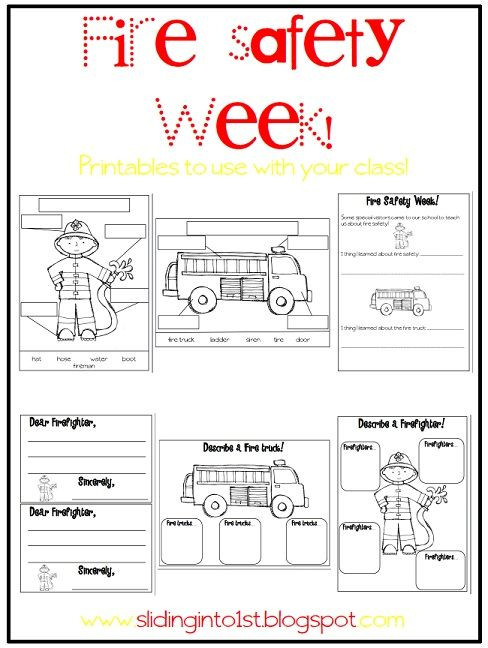 Fire Safety Worksheets Preschool Halloween Fun & Fire Safety