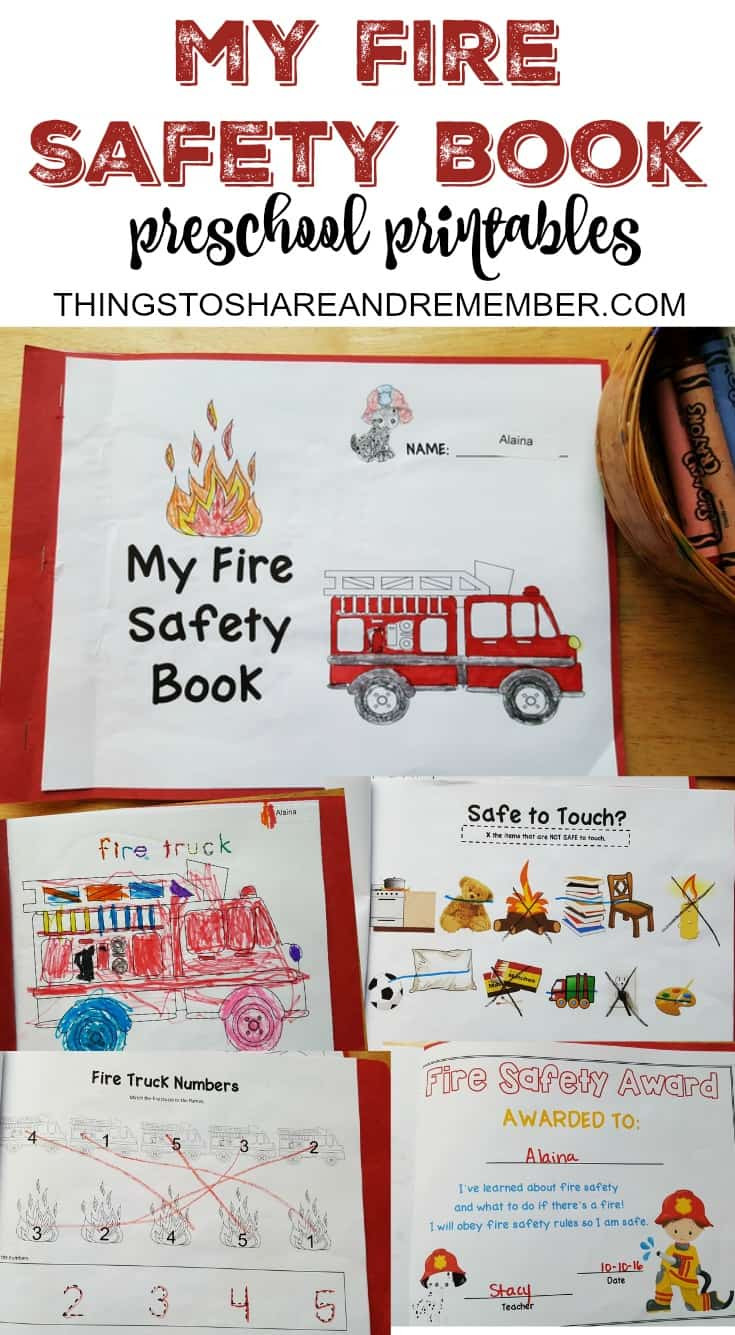 Fire Safety Worksheets Preschool Preschool Fire Safety Booklet Printables