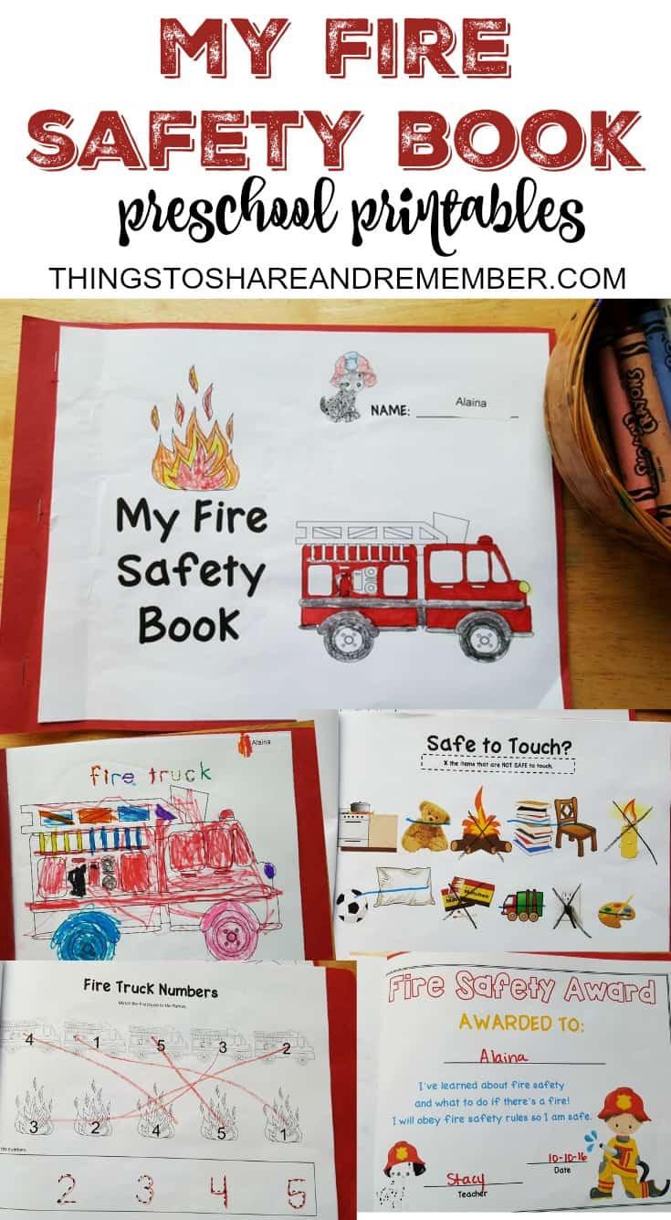 Fire Safety Worksheets Preschool Preschool Fire Safety Booklet Printables