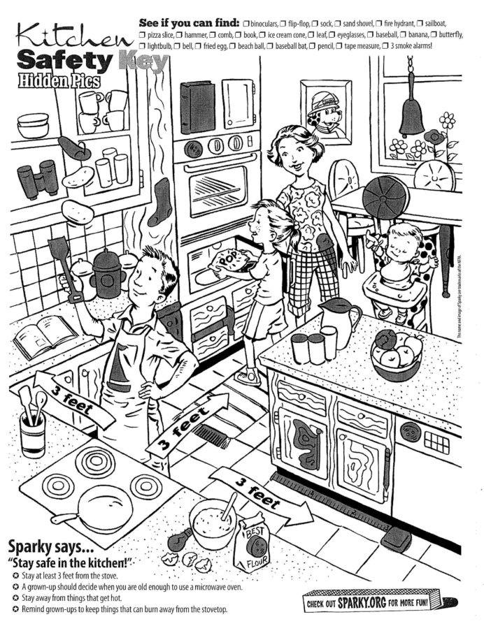 Fire Safety Worksheets Preschool Preschool Worksheet Kitchen Printable Worksheets and