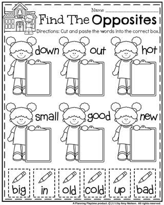 First Grade Antonyms Worksheet Back to School First Grade Worksheets