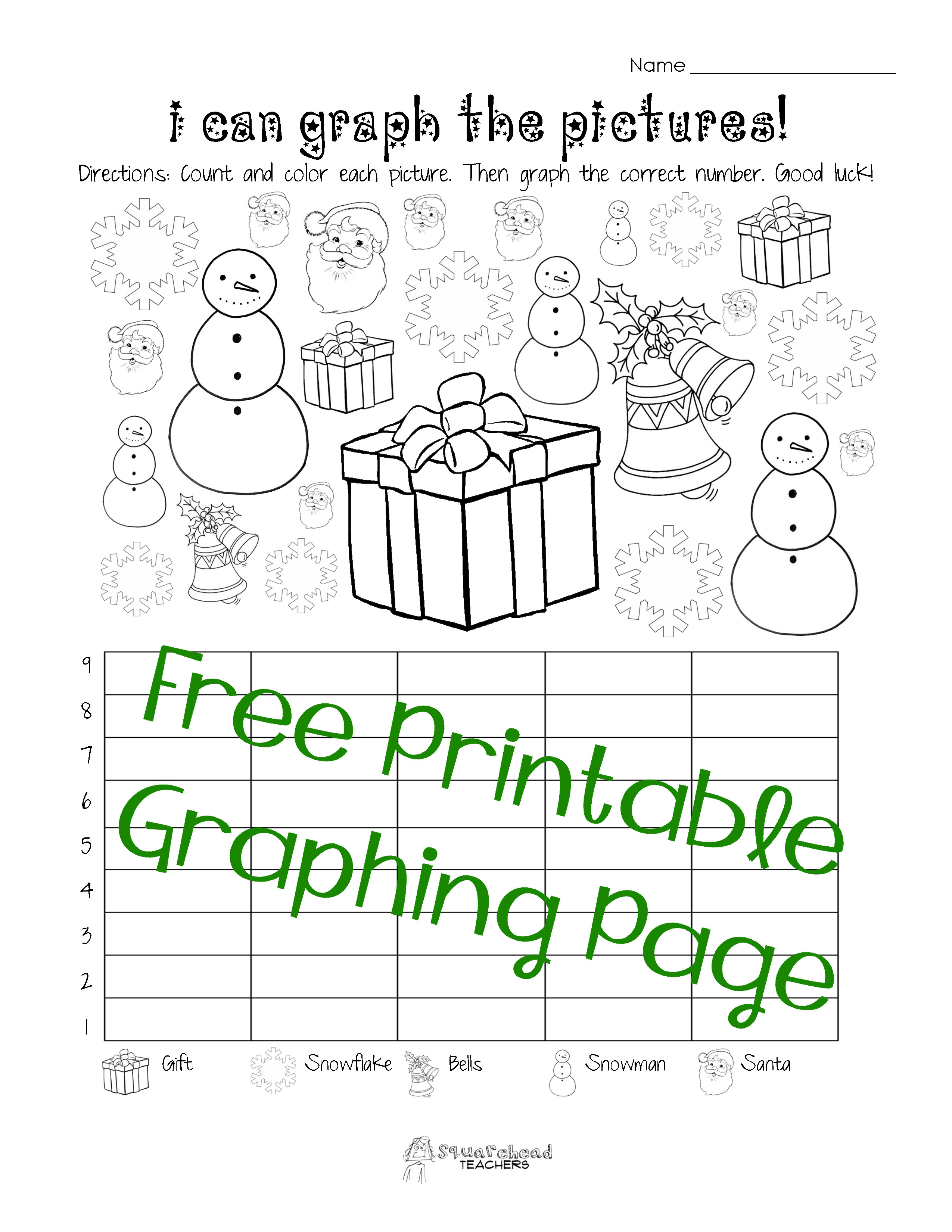First Grade Graphing Worksheets Free Christmas Winter Graphing Worksheet Kindergarten
