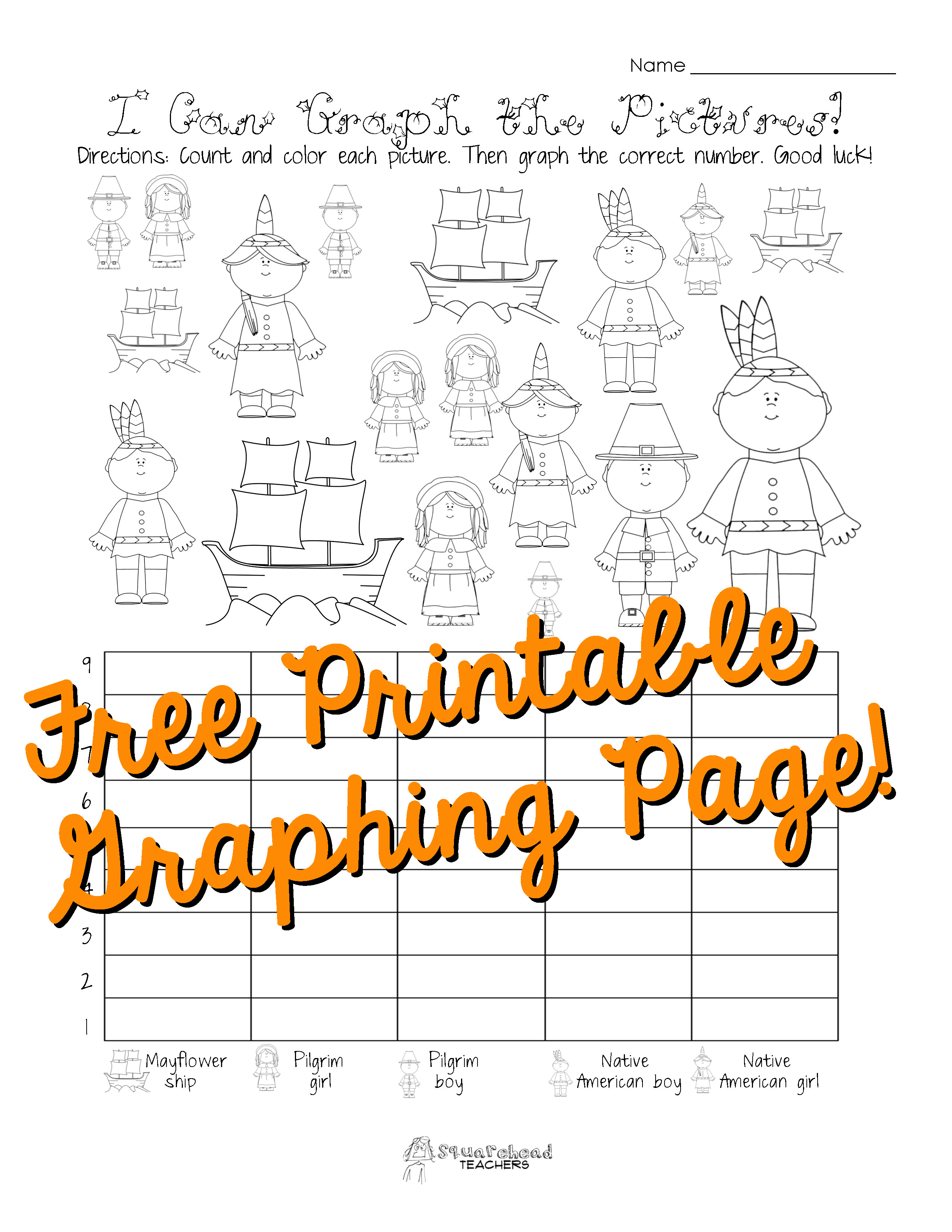 First Grade Graphing Worksheets Free Thanksgiving Graphing Worksheet Kindergarten First
