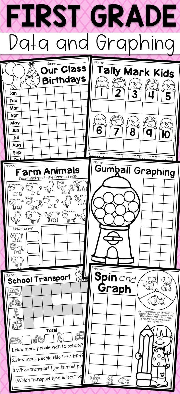 First Grade Graphing Worksheets Pin On Additions