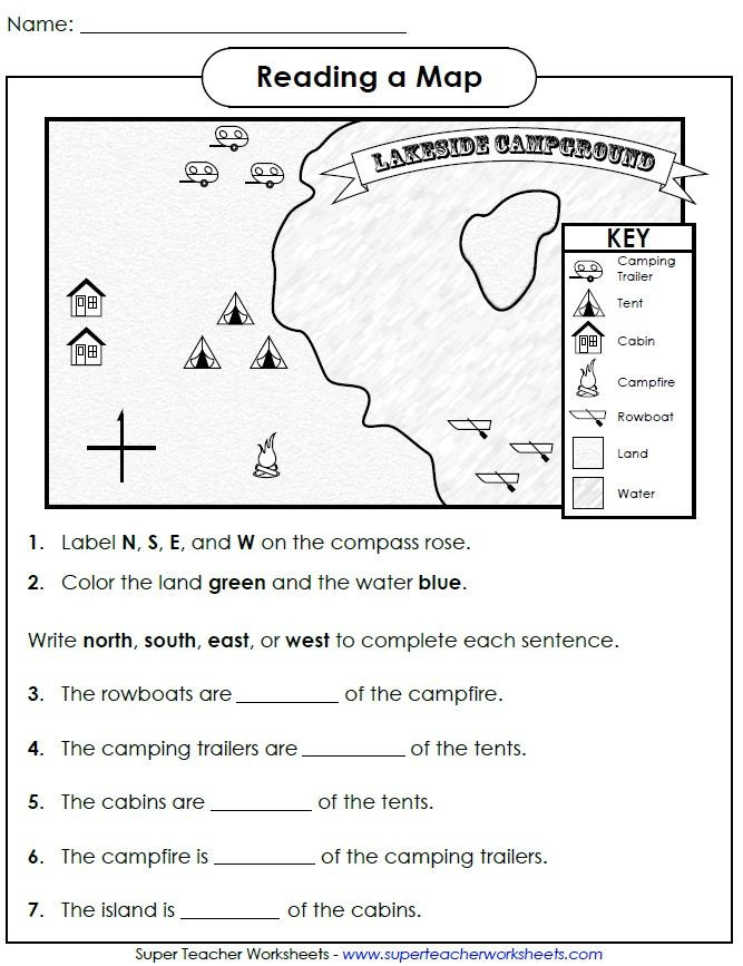 First Grade Map Skills Worksheets Check Out This Worksheet From Our Map Skills Page to Help