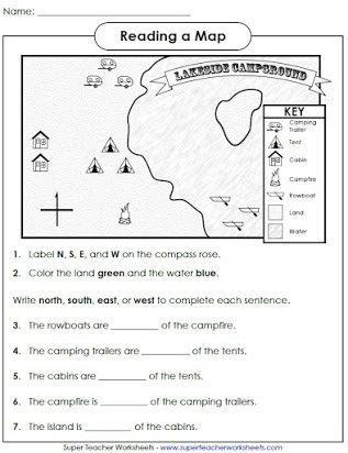 First Grade Map Skills Worksheets Free Printable Map Skills Worksheets