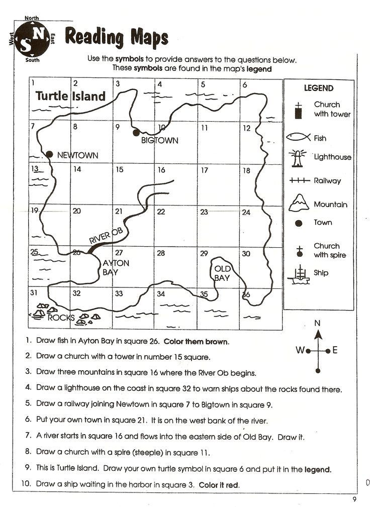 First Grade Map Skills Worksheets Reading Exercises for 6th Graders Pdf