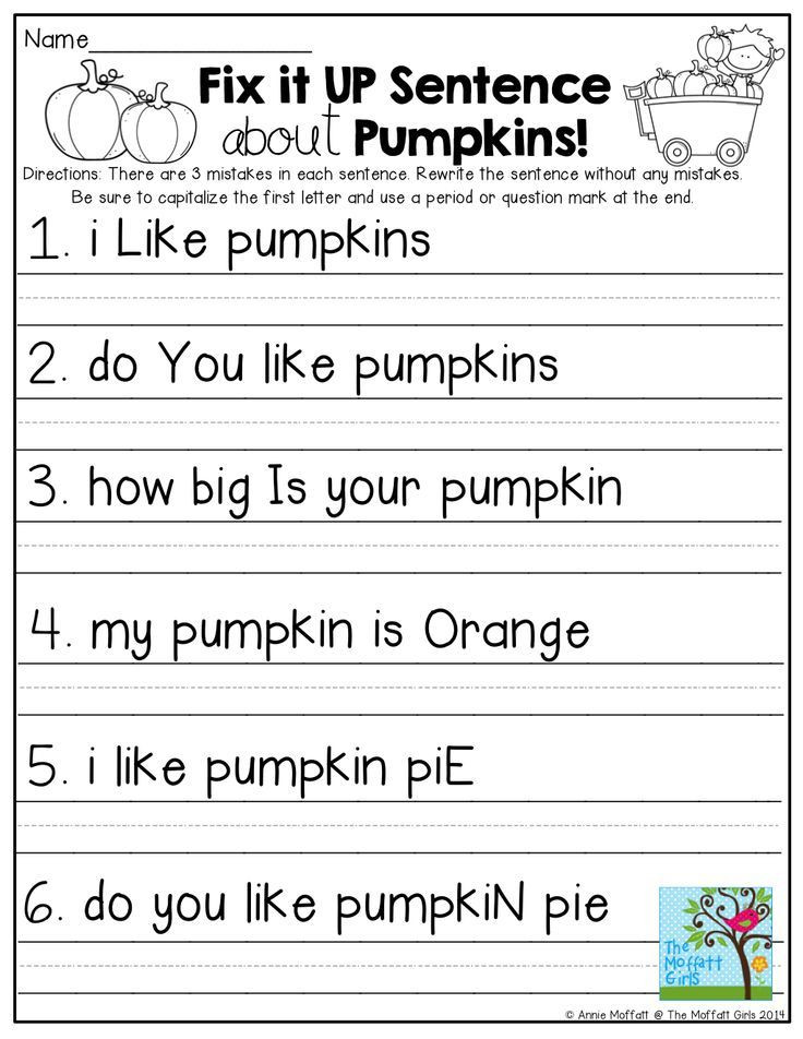 First Grade Sentence Writing Worksheets Fix It Up Sentences and so Many More Pages