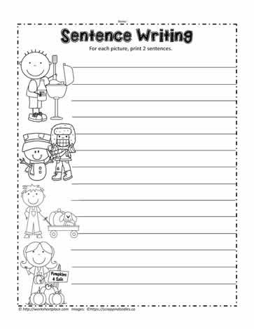 First Grade Sentence Writing Worksheets Sentence Writing Worksheets