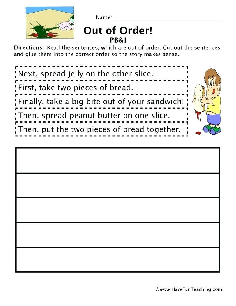 First Grade Sequencing Worksheets order Of events Worksheets – Goodaction