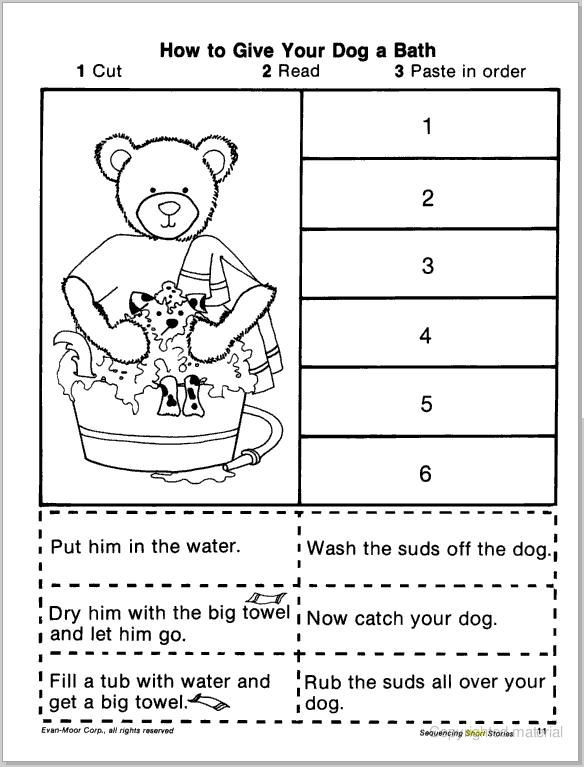 First Grade Sequencing Worksheets Pin On Slp Sequencing Retelling