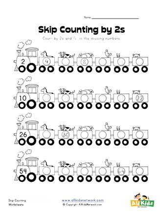 First Grade Skip Counting Worksheets Skip Counting by Twos Worksheet