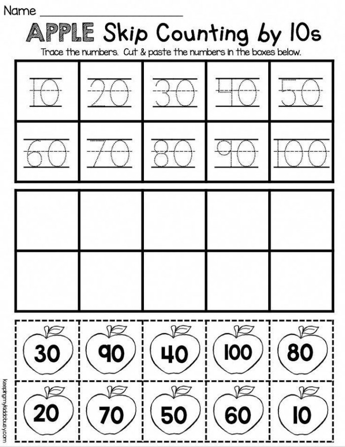 First Grade Skip Counting Worksheets Skip Counting Count by Tens Worksheets