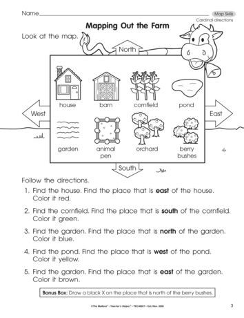 First Grade social Studies Worksheets Mapping Out the Farm Lesson Plans the Mailbox