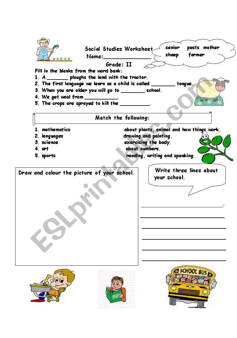 First Grade social Studies Worksheets social Stu S assessment Worksheet Esl Worksheet by Alina2