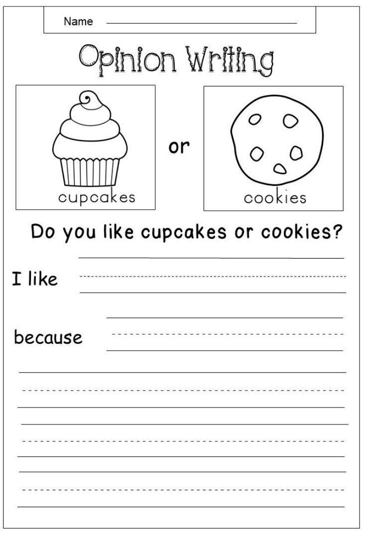 First Grade Writing Worksheets 5 Kindergarten Worksheets Food In 2020
