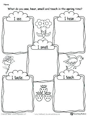 Five Senses Worksheets Preschool 5 Senses Kindergarten Five 5 Senses Kindergarten Video