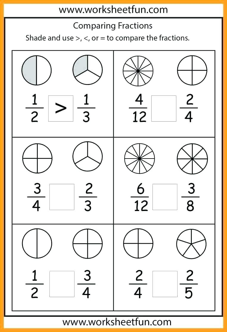 Fraction Worksheets First Grade First Grade Fractions Worksheets Fractions for First Grade