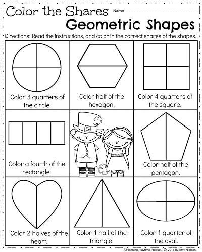 Fraction Worksheets First Grade March First Grade Worksheets