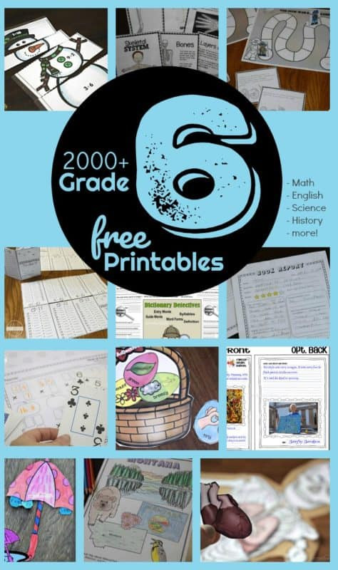 Free 6th Grade Science Worksheets Free 6th Grade Worksheets