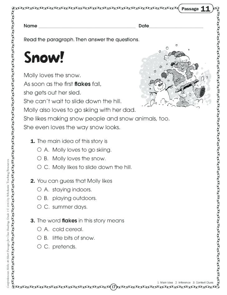 Free 7th Grade Reading Worksheets Free Homework Worksheets – Leter