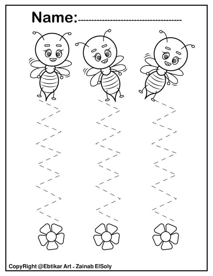 Free Printable Rebus Puzzles Set Fine Motor Tracing Activity More Less Worksheets