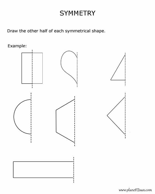 Geometric Shapes Worksheets 2nd Grade Symmetry 2nd Grade Geometry Bluebirdplanet Printables