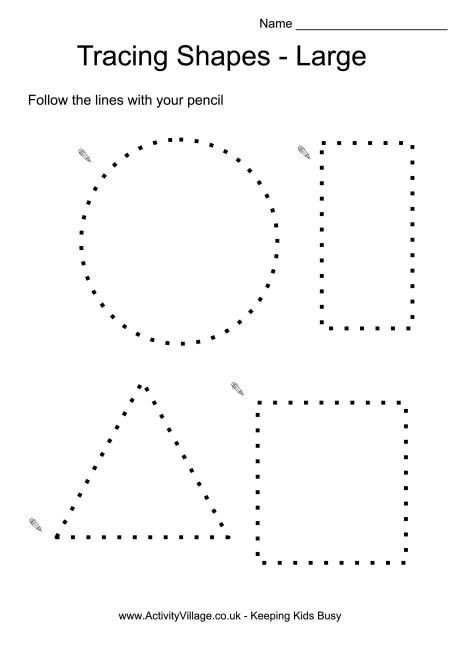 Geometric Shapes Worksheets 2nd Grade Tracing Shapes with Preschool Shape Keeping