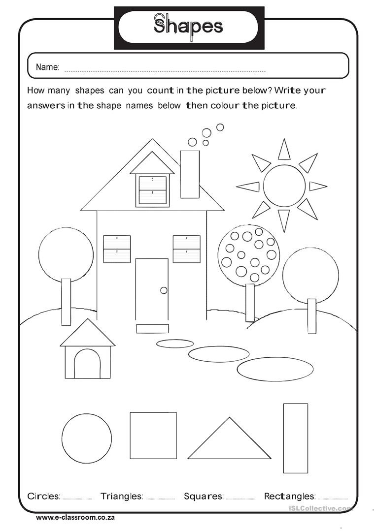 Geometry Worksheet 2nd Grade 2nd Grade Shapes Barbara Pentikis Lessons Tes Teach