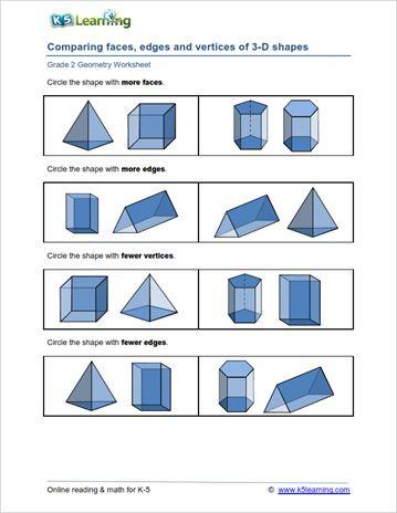Geometry Worksheet 2nd Grade Second Grade Math Geometry Worksheets 2020