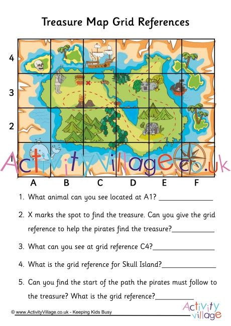 Grid Map Worksheets Grade 2 Treasure Map Grid Reference Worksheet