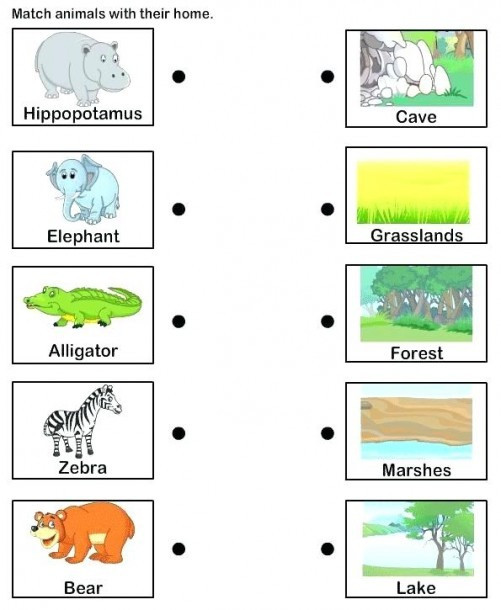 Habitat Worksheets for 1st Grade Animal Habitat Worksheets for Kindergarten