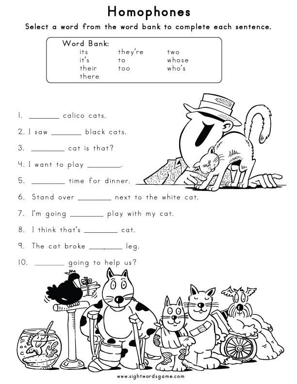 Homophones Worksheets 2nd Grade 15 Homophone Worksheets for 2nd Grade 2nd Homophone