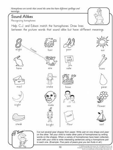 Homophones Worksheets 2nd Grade Homophone Worksheets for 2nd Grade – Mreichert Kids Worksheets
