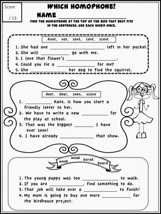 Homophones Worksheets 2nd Grade Homophones Can Be Fun Get Serious