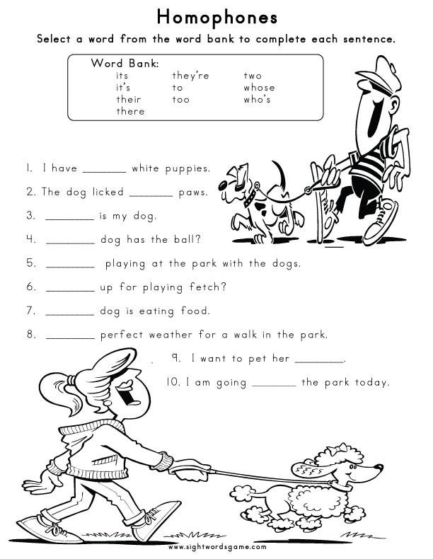 Homophones Worksheets 2nd Grade Homophones Sight Words Reading Writing Spelling