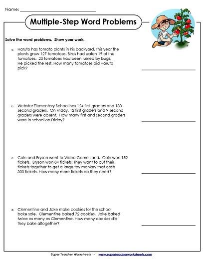 Istep Practice Worksheets 5th Grade Multiple Step Word Problem Worksheets