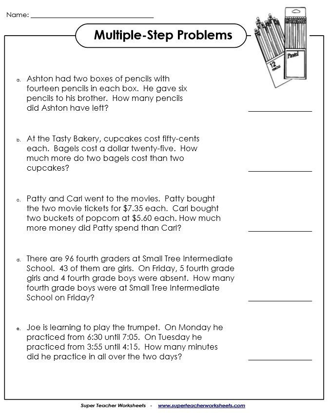 Istep Practice Worksheets 5th Grade Multiple Step Word Problems