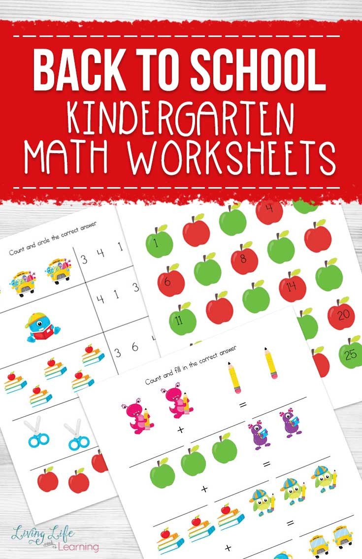 Kindergarten Math Worksheet Back to School Kindergarten Math Worksheets