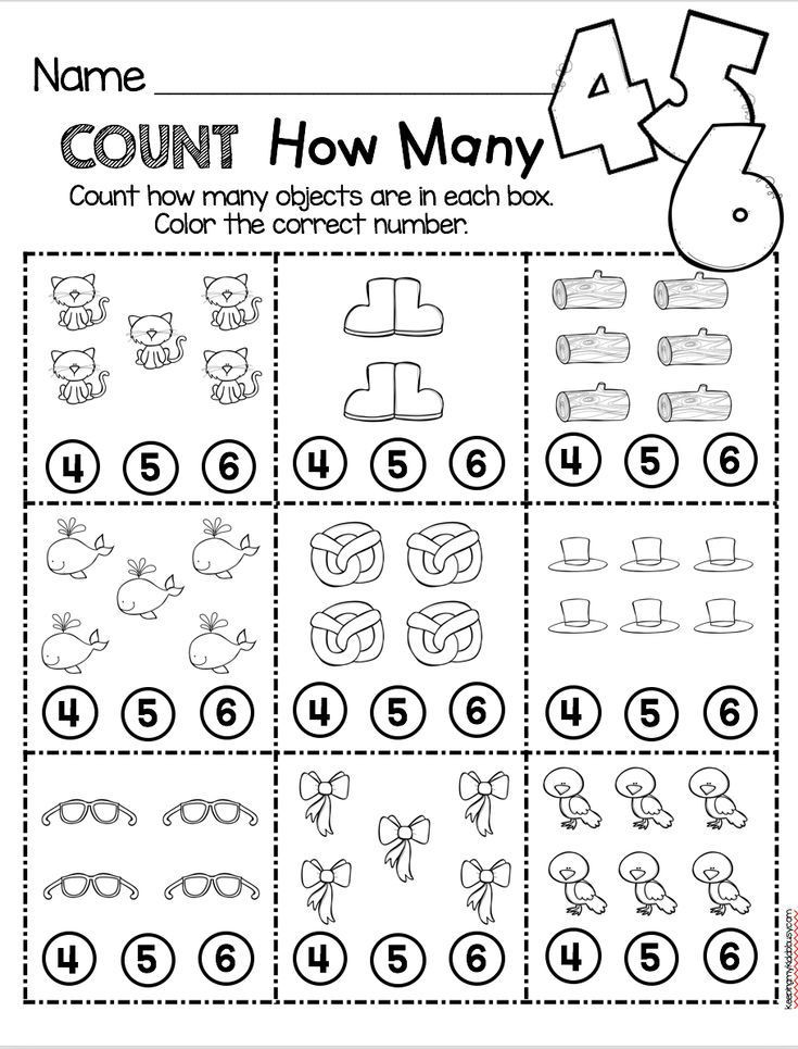 Kindergarten Math Worksheet Counting and Cardinality Freebies