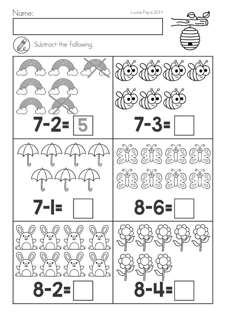 Kindergarten Math Worksheet Spring Kindergarten Math and Literacy Worksheets