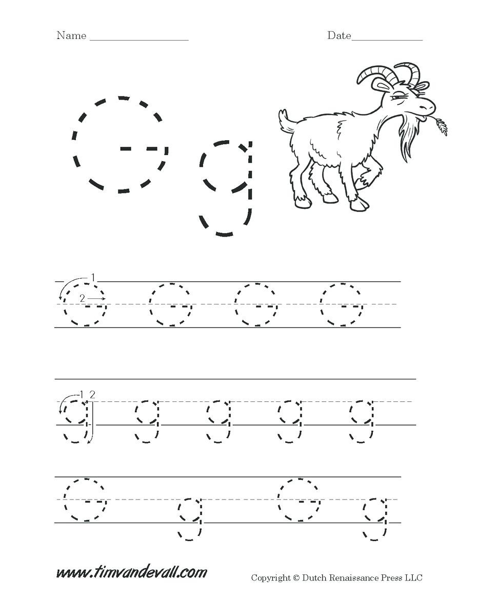 Letter G Tracing Worksheets Preschool Letters Worksheets for Preschoolers Letter G Worksheets