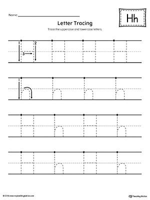 Letter H Tracing Worksheets Preschool Letter H Tracing Printable Worksheet