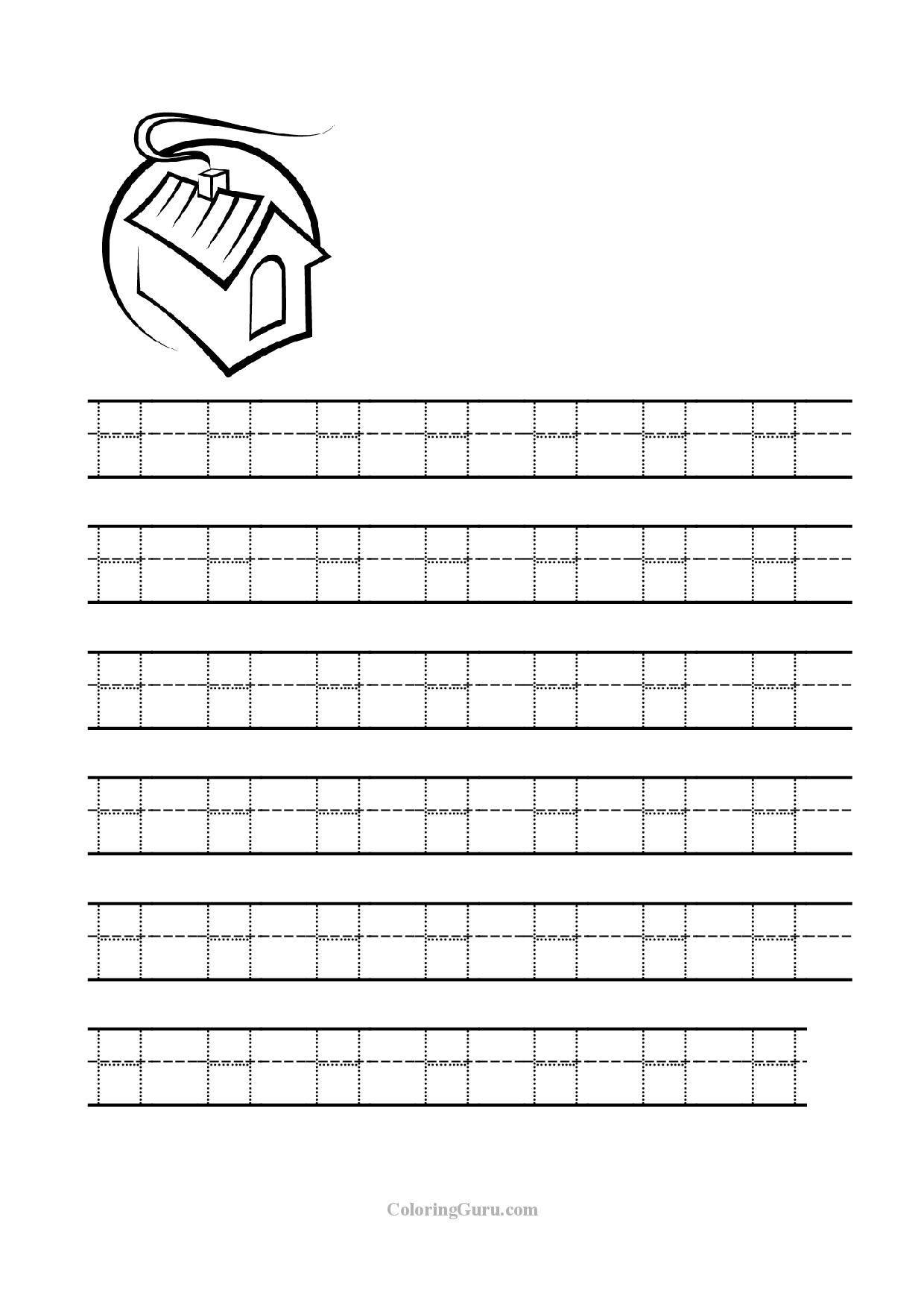 Letter H Tracing Worksheets Preschool Letter H Tracing Worksheets Worksheets for All