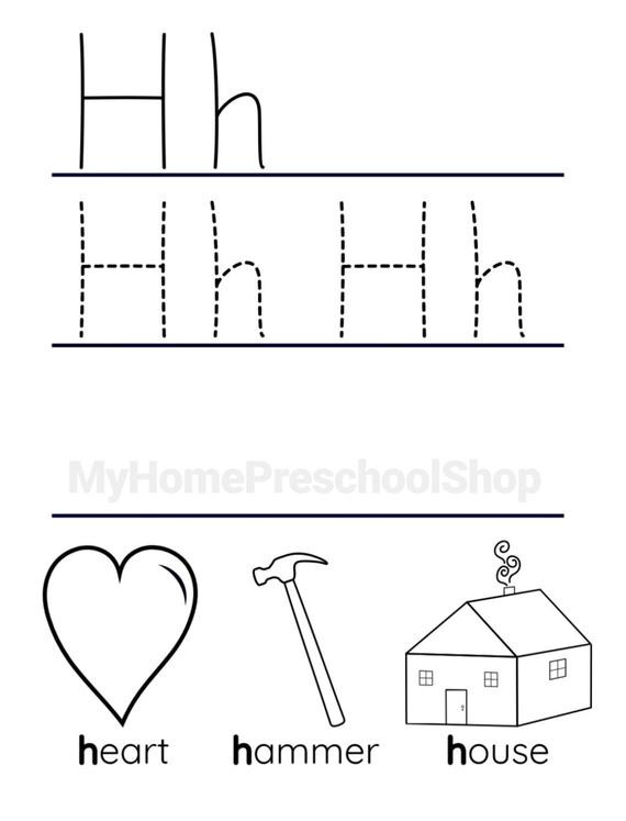 Letter H Tracing Worksheets Preschool Letter H Worksheet