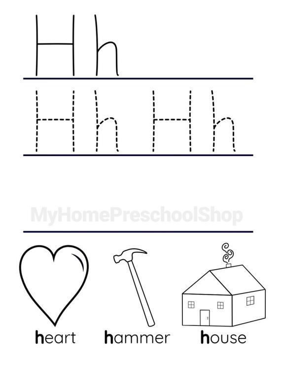 Letter H Tracing Worksheets Preschool Letter H Worksheet