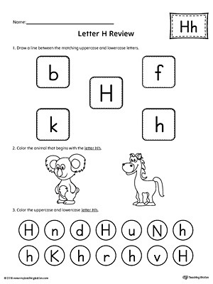 Letter H Worksheets Preschool All About Letter H Printable Worksheet